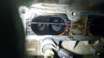 Carbon Buildup in a Volkswagen Tiguan engine